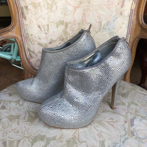 7fc5617c04f Steve Madden Sparrkk Rhinestone Ankle Boots